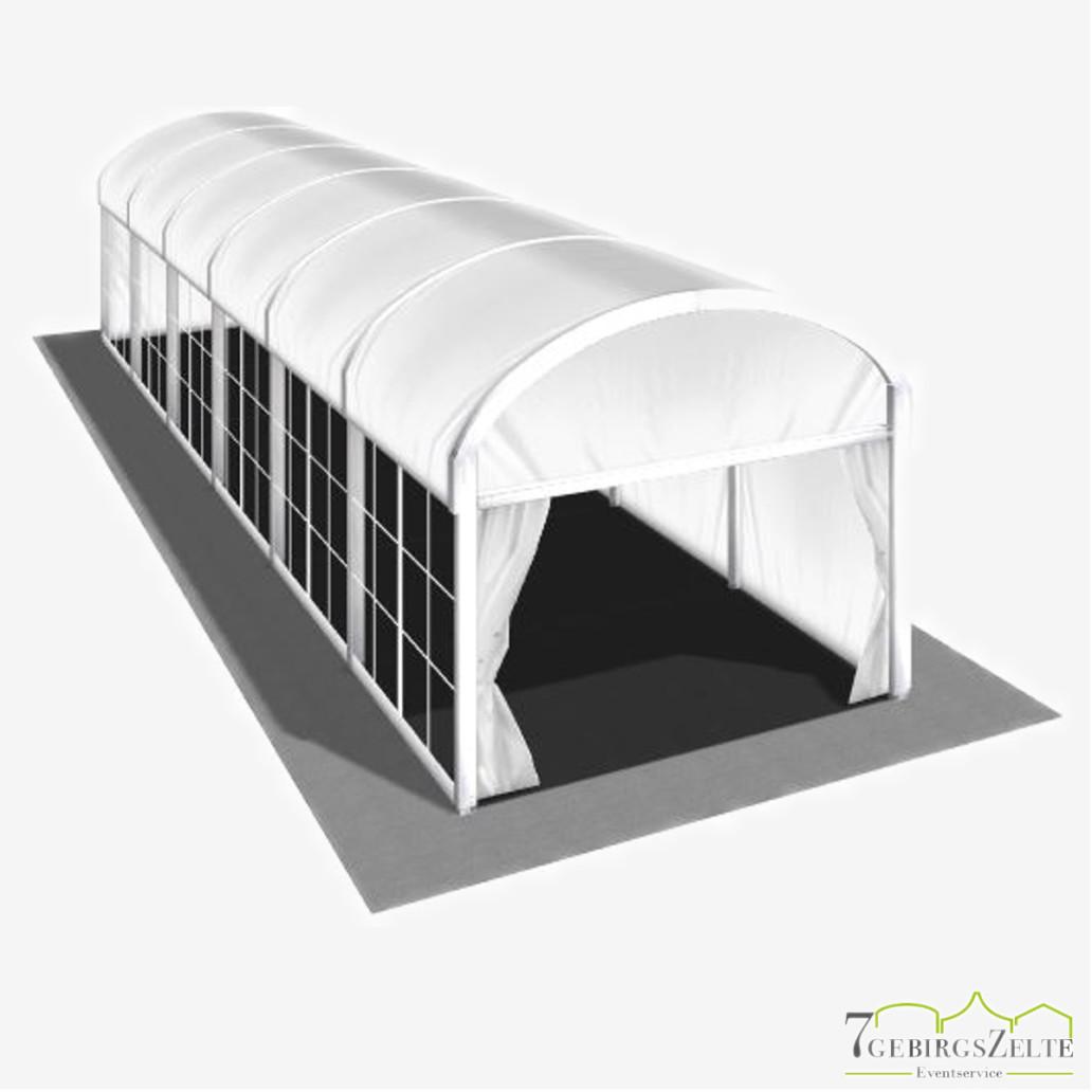 Bodega Rundbogenzelt ohne Boden, Giebelbreite 4 m