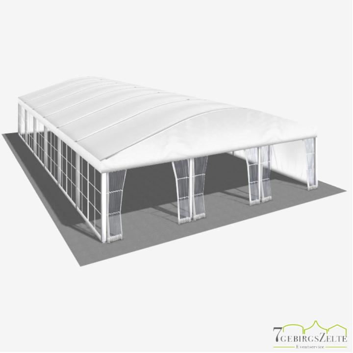 Bodega Rundbogenzelt ohne Boden, Giebelbreite 10 m