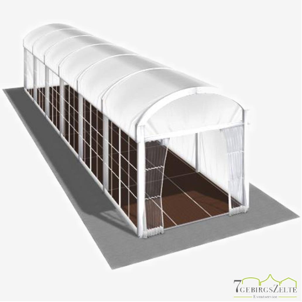 Bodega Walkwayzelt mit Kassettenboden, Giebelbreite 3 m