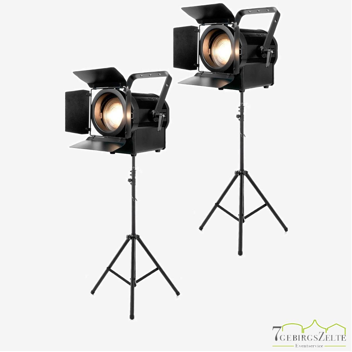Bühnenscheinwerfer Set /2 x Scheinwerfer/Presselicht/Filmlicht/Arri