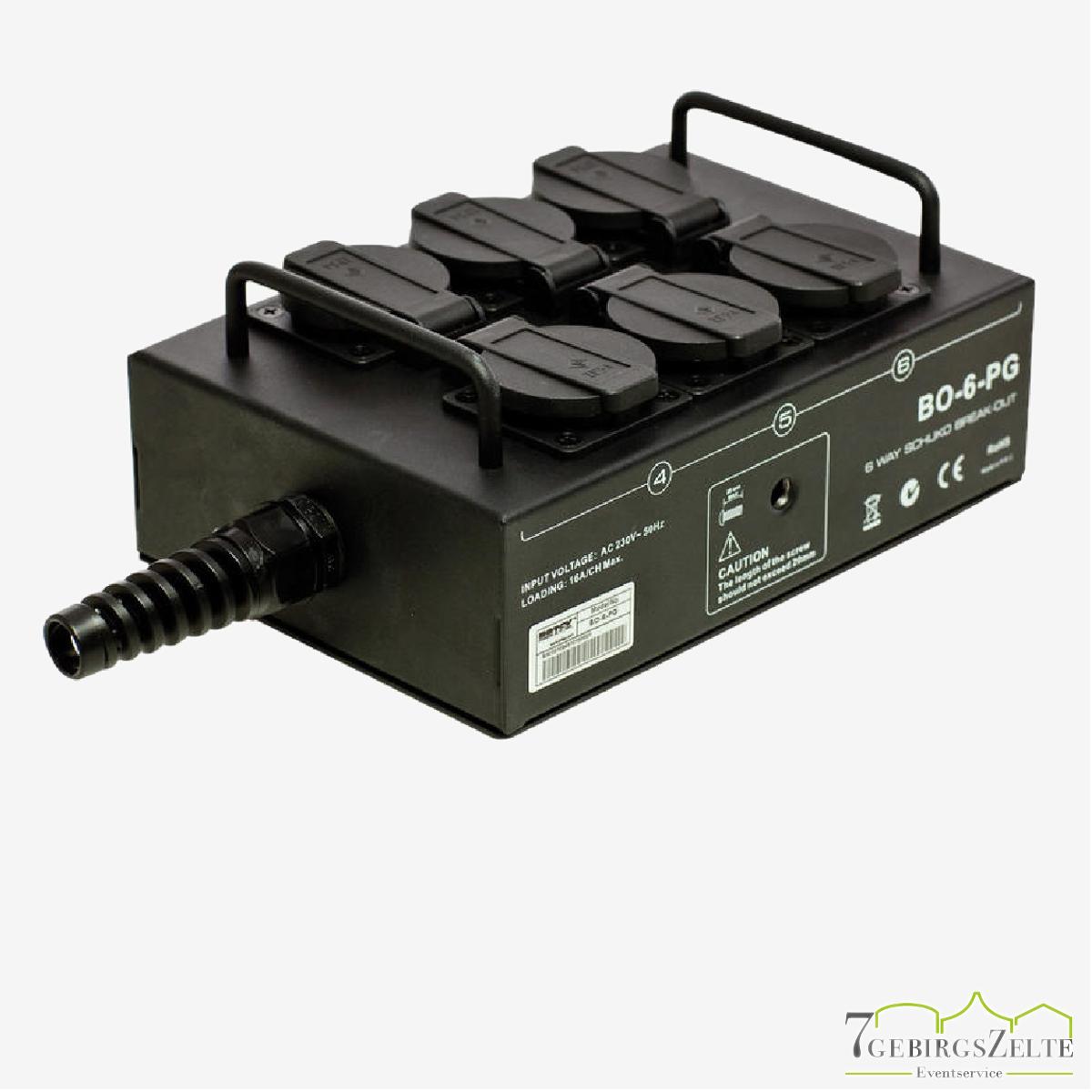 Stromverteiler Metall 6 x 230 Volt PROPORT 6 T 