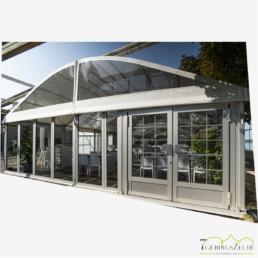 Glasfassade 3 m (Giebel 6 m)