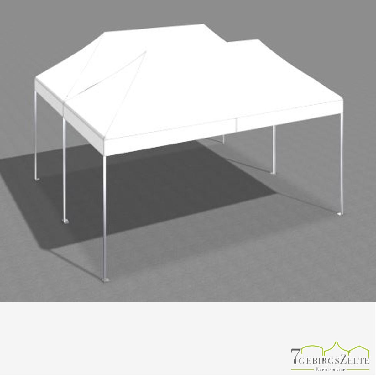 Faltzeltkombination 6 x 6 m (36 m²) mit weißen Dächern (2 x 3 x6 m)