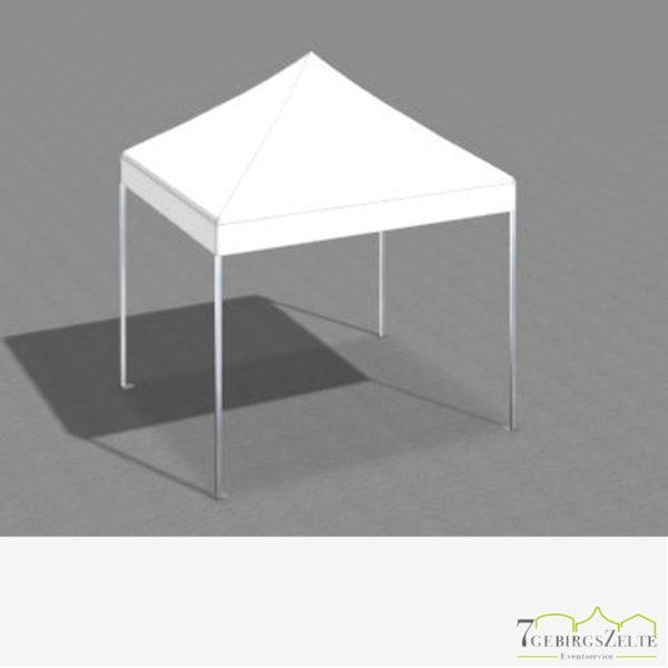 Faltzelt 3 x 3 m mit weißem Dach