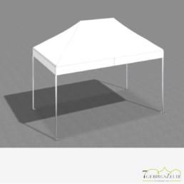 Faltzelt 3 x 4,5 m mit weißem Dach