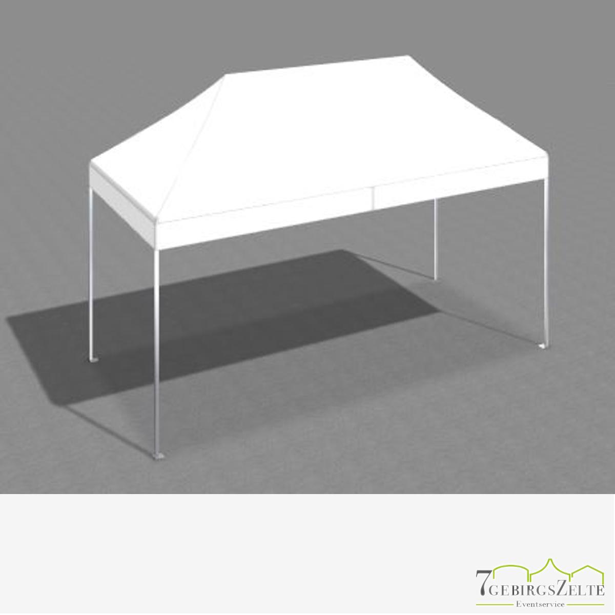 Faltzelt 3 x 6 m mit weißem Dach