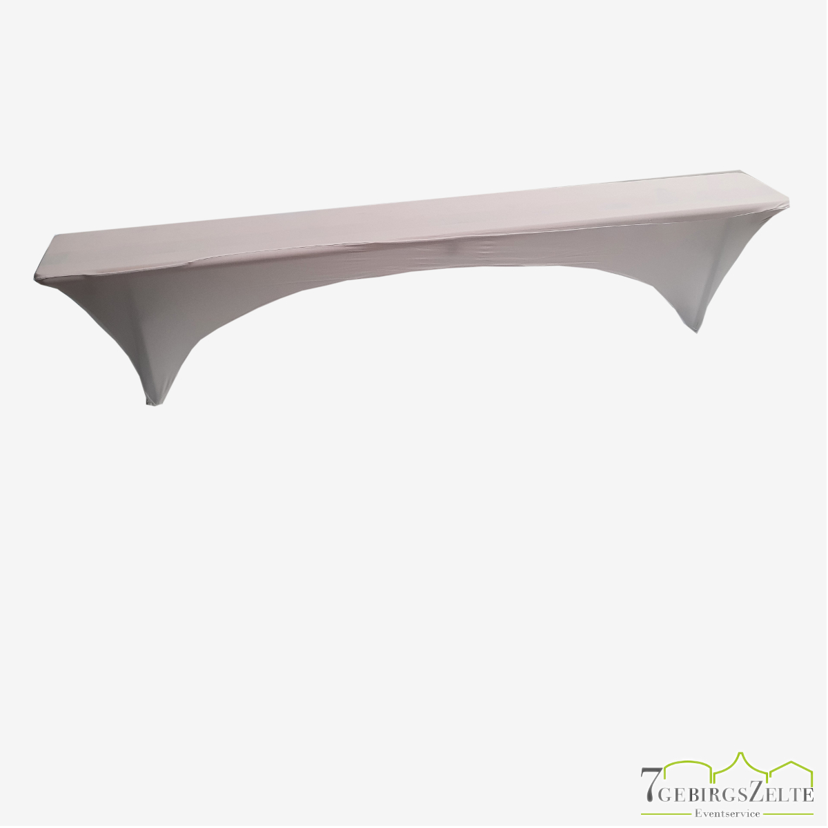 Bierzeltbank Stretchhusse 25 cm, weiß