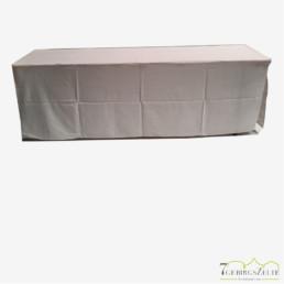 Bierzelttisch Husse 50 cm; klassische Form, weiß