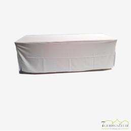 Bierzelttisch Husse 70 cm; klassische Form, weiß