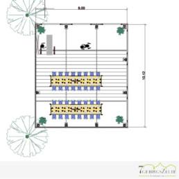 Planung des Veranstaltungszeltes mit CAD Software