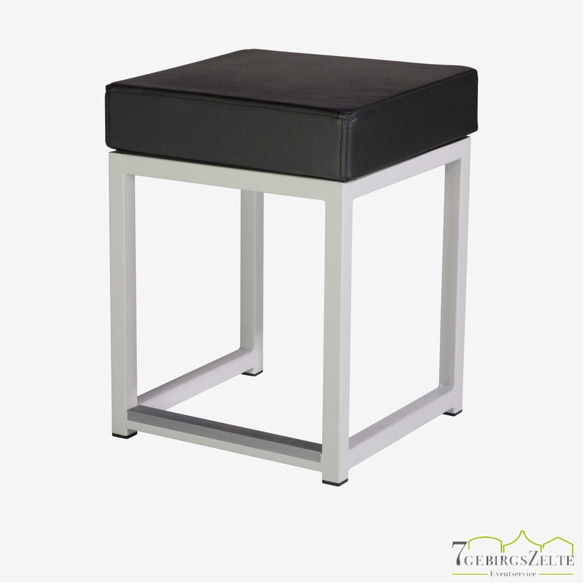Kubo Cube Sitzhocker, Stahl weiß