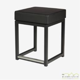 Kubo Cube Sitzhocker, Stahl schwarz