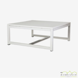 Kubo Lounge Tisch, Stahl weiß