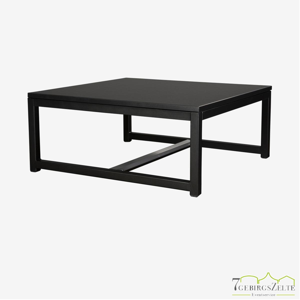 Kubo Lounge Tisch, Stahl schwarz