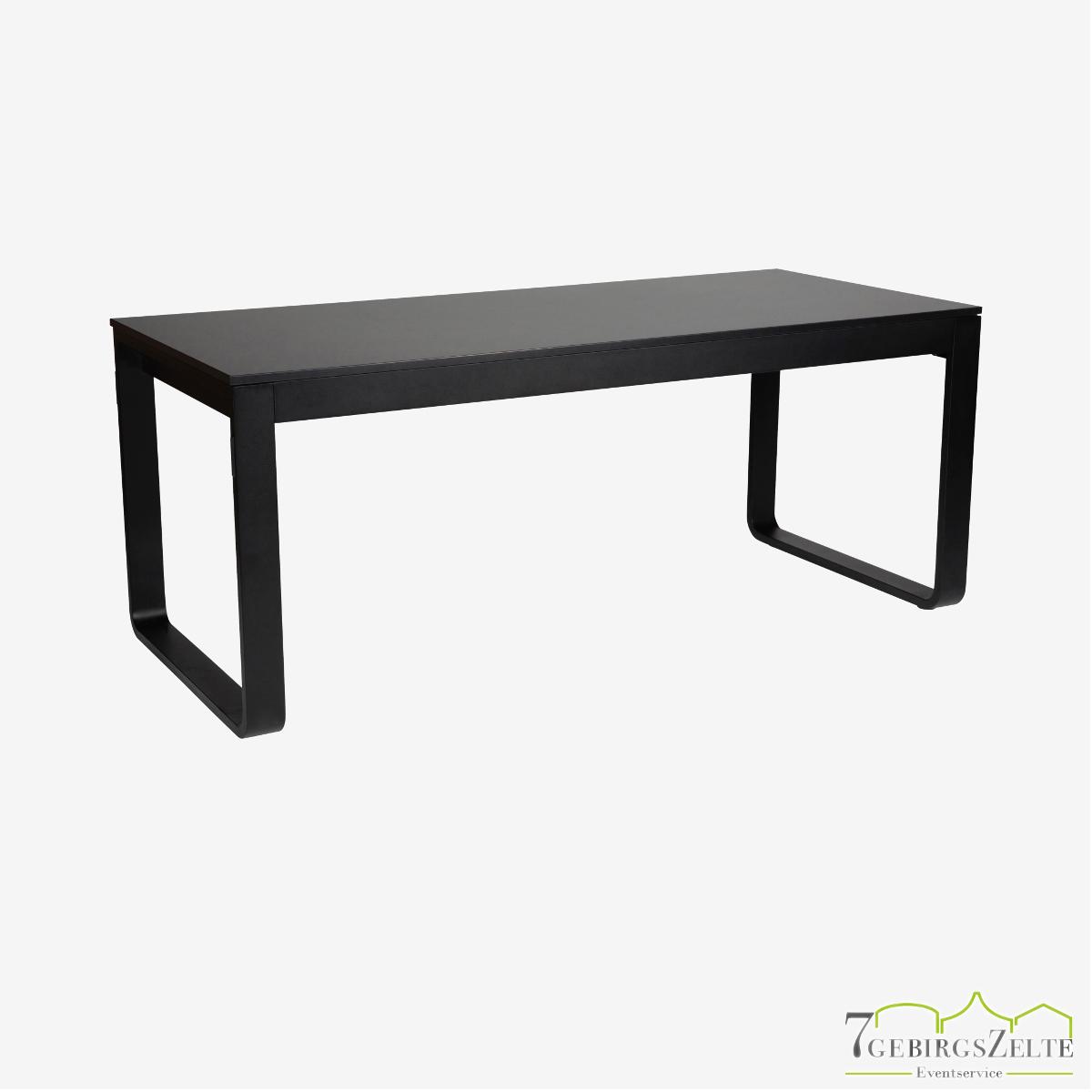 Flow Dinner Tisch 180 cm, Aluminium schwarz