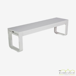 Flow Dinner Bank 160 cm; Aluminium weiß