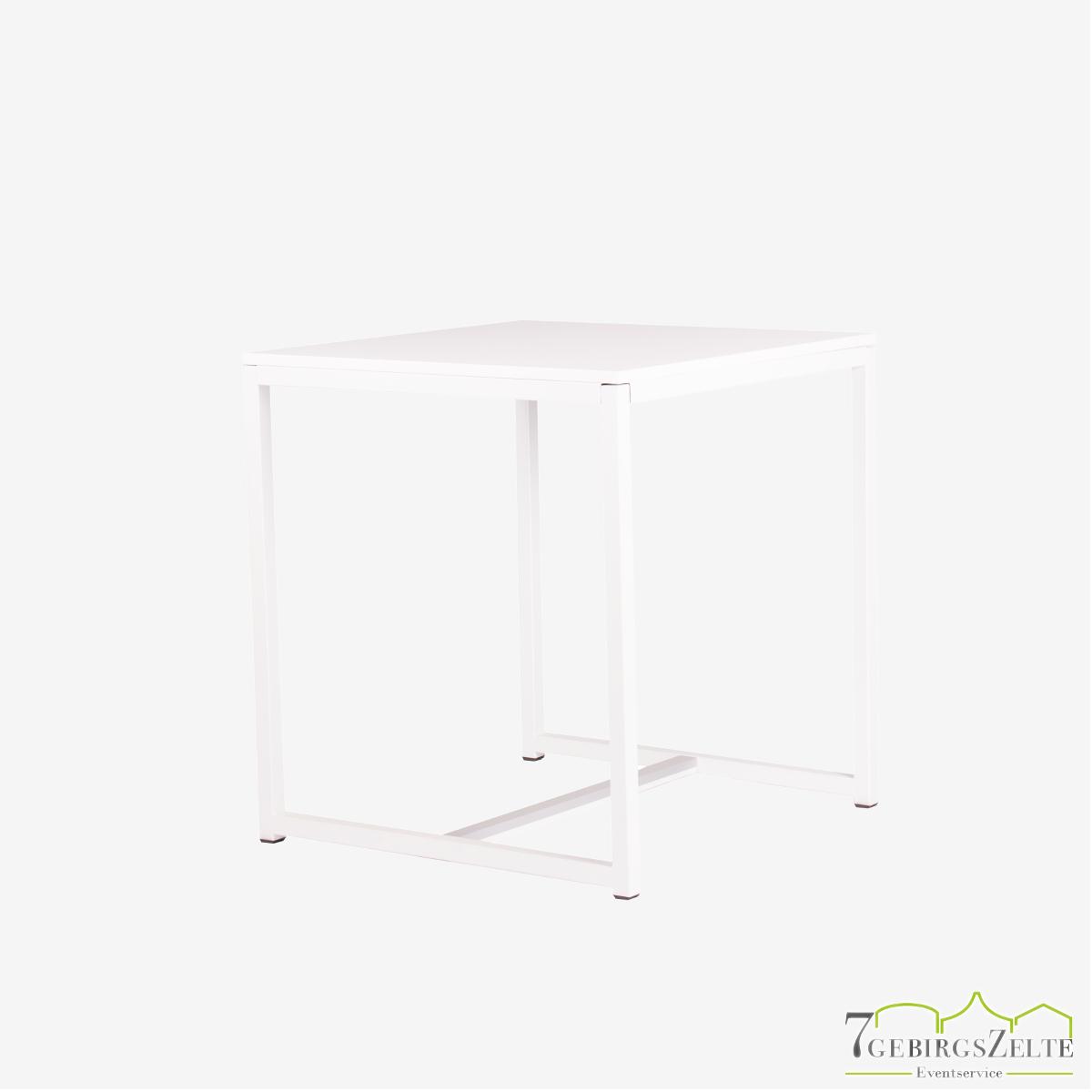 Kubo Dinner Tisch Quadrat 70, Stahl weiß
