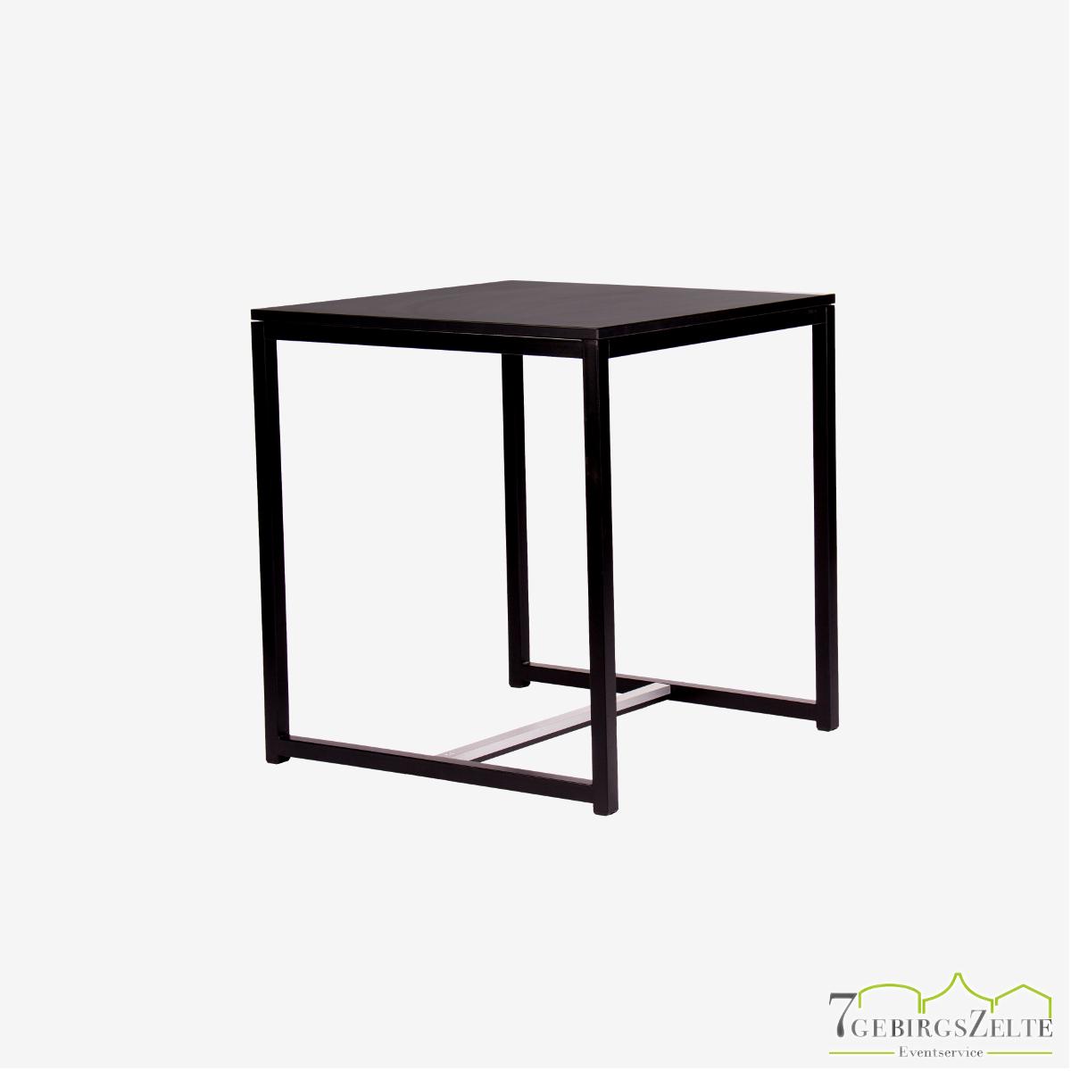 Kubo Dinner Tisch Quadrat 70, Stahl schwarz