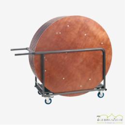 Transportwagen für eckige und runde Tische