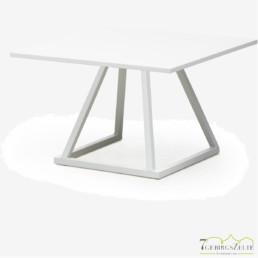 Linéa Lounge 70x70x40 - Aluminium weiß  - verschiedene Tischplatten