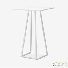 Linéa Lounge 70x70x110 - Aluminium weiß  - verschiedene Tischplatten