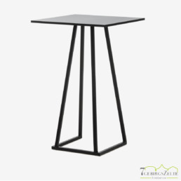 Linéa Lounge 70x70x110 - Aluminium schwarz  - verschiedene Tischplatten