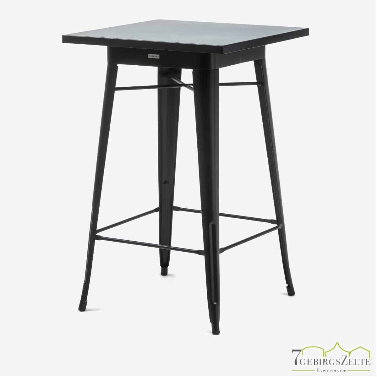 Tolix Stehtisch; Stahl schwarz; mit Tischplatte schwarz