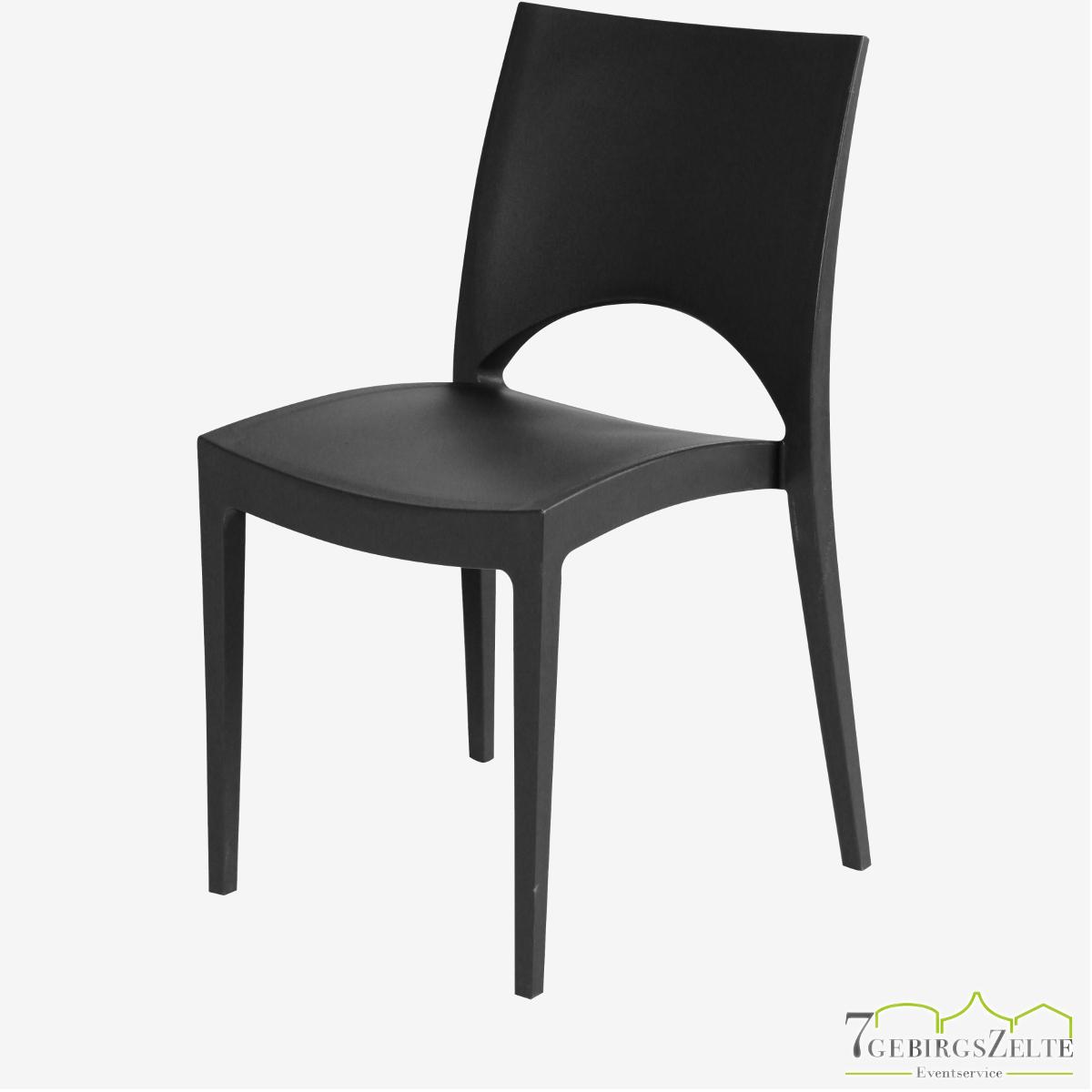 Stack chair  polypropylene  June schwarz
