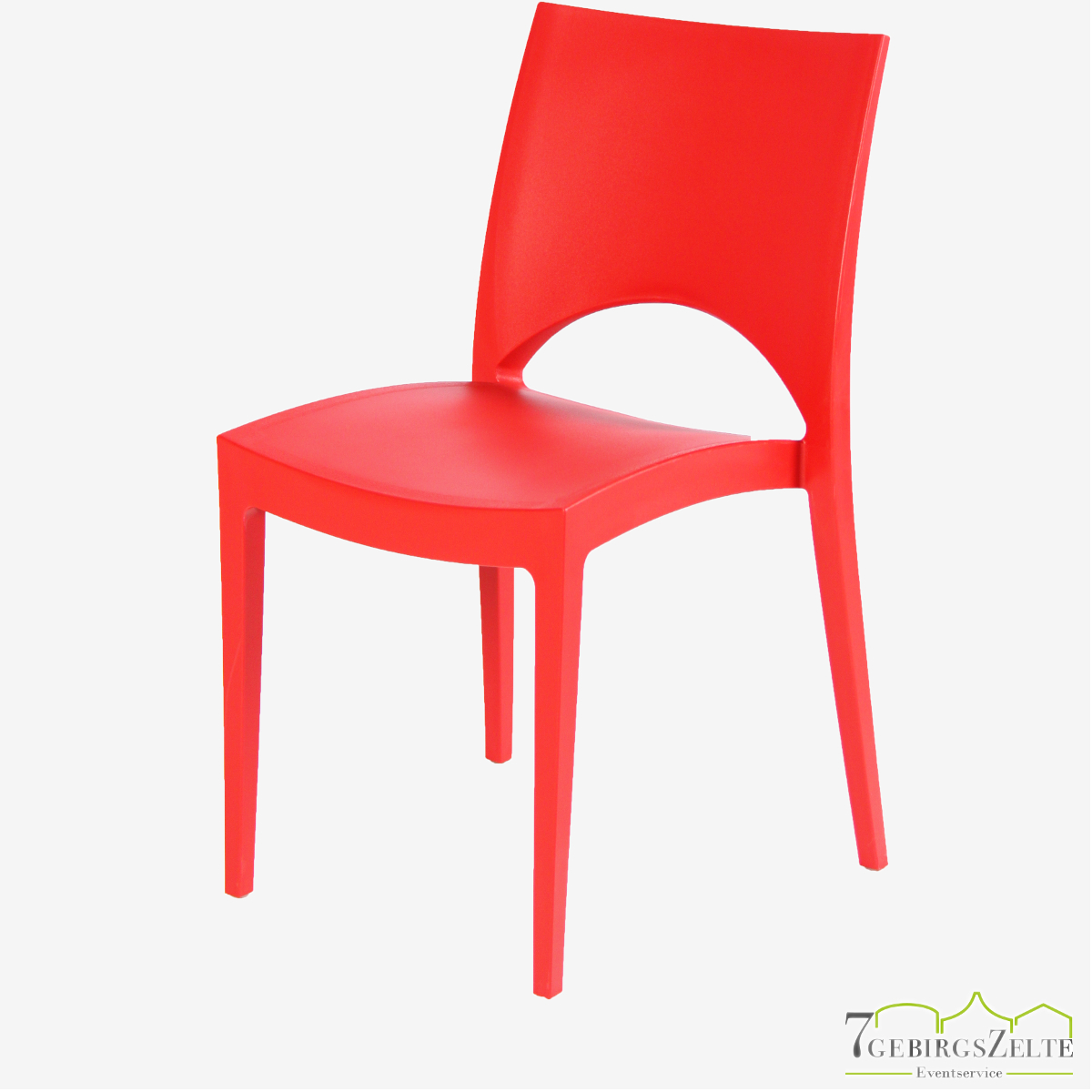 Stack chair  polypropylene  June red