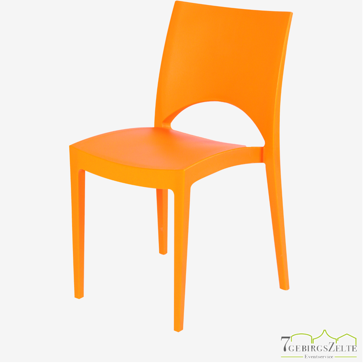 Stack chair  polypropylene  June orange