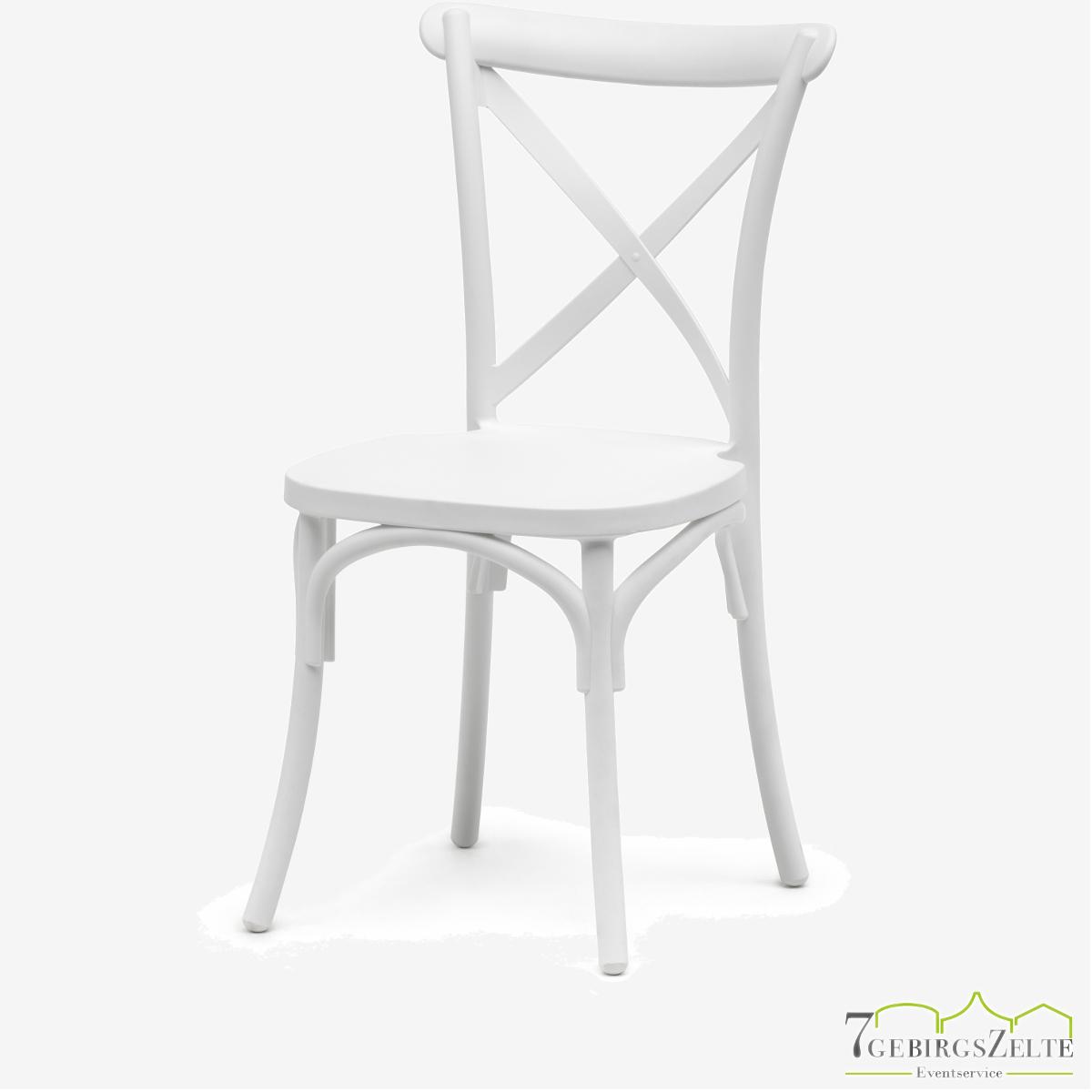 Crossback chair polypropyleen weiß