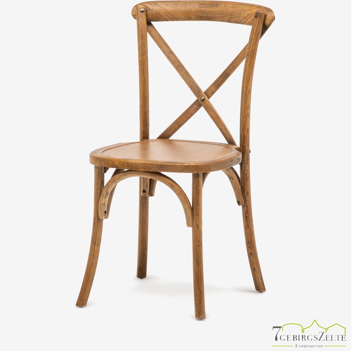 Crossback chair natural wood - antique elm