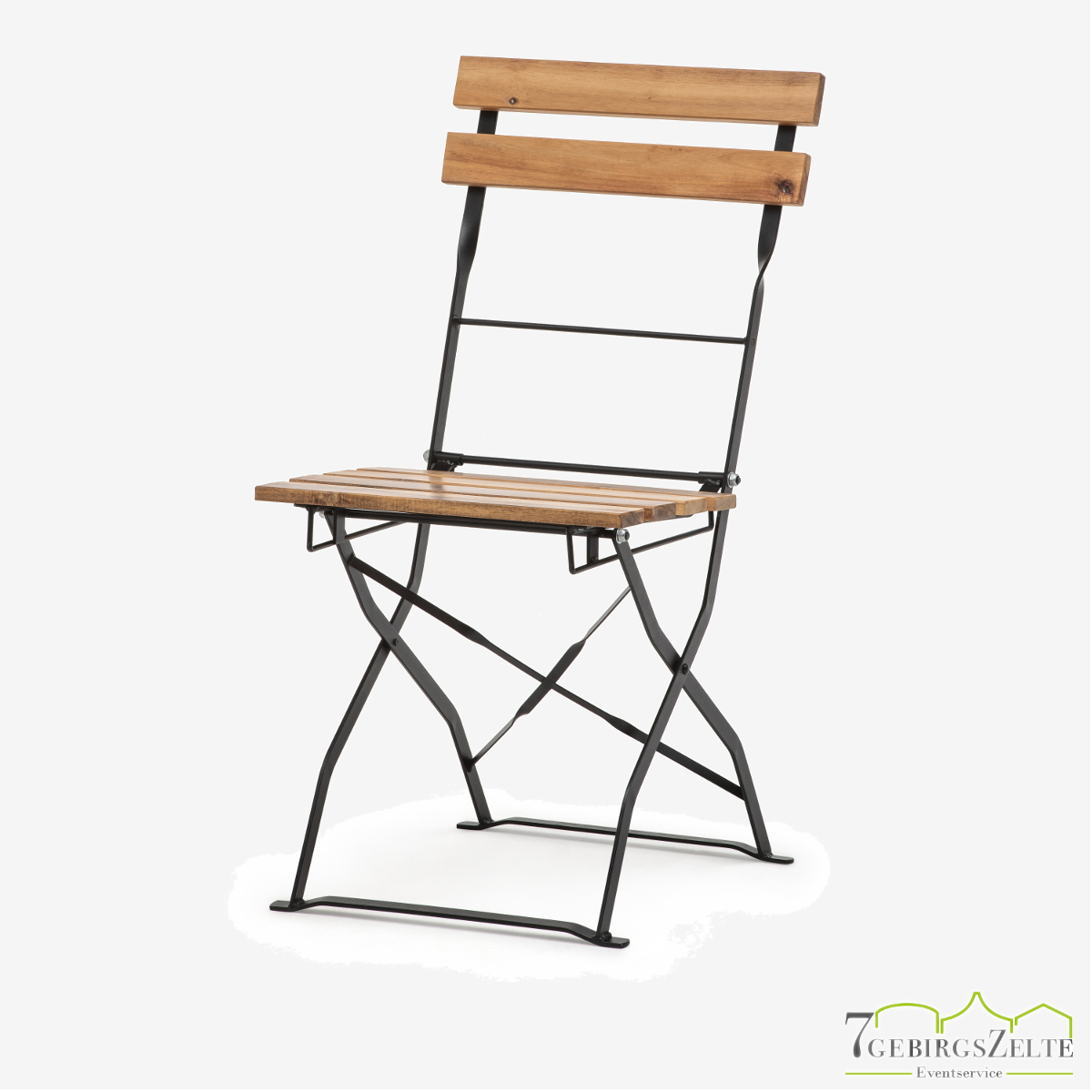 Bistro chair steel and natural wood - acacia wood