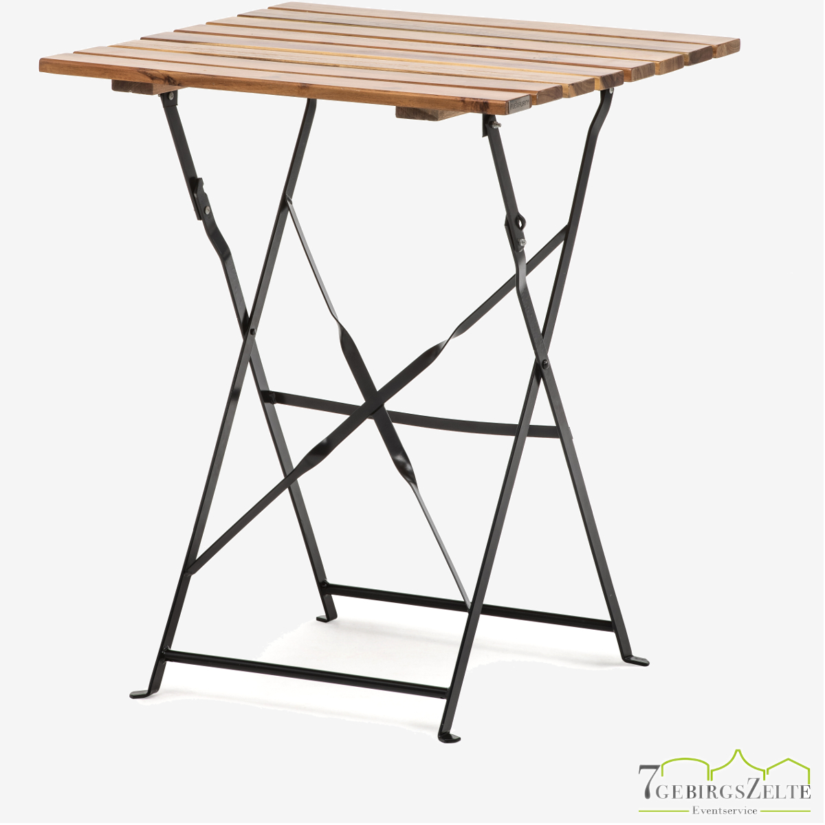 Bistro table steel and natural wood - acacia wood
