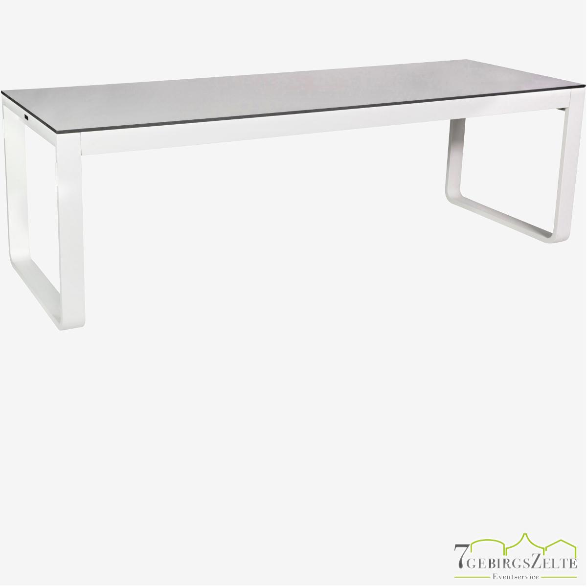 Flow Dinner 230x80x74cm alu weiß - top compact weiß