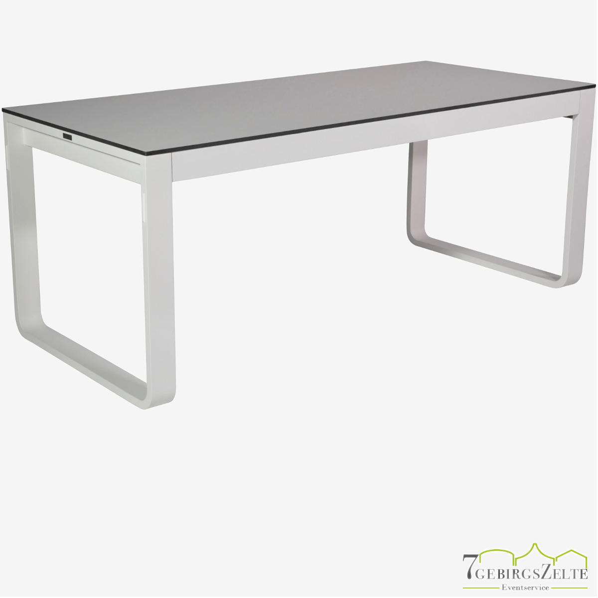 Flow Dinner 180x80x74cm alu weiß - top compact weiß
