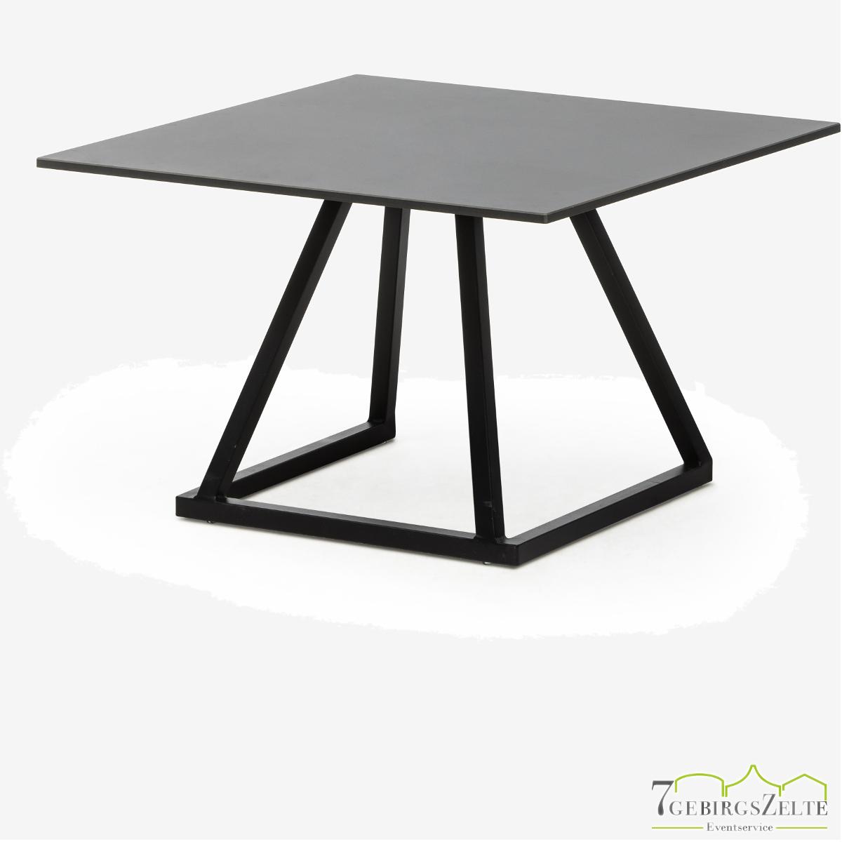 Linéa Lounge 70x70x40 - alu schwarz  - Tischplatte Farbe: variabel