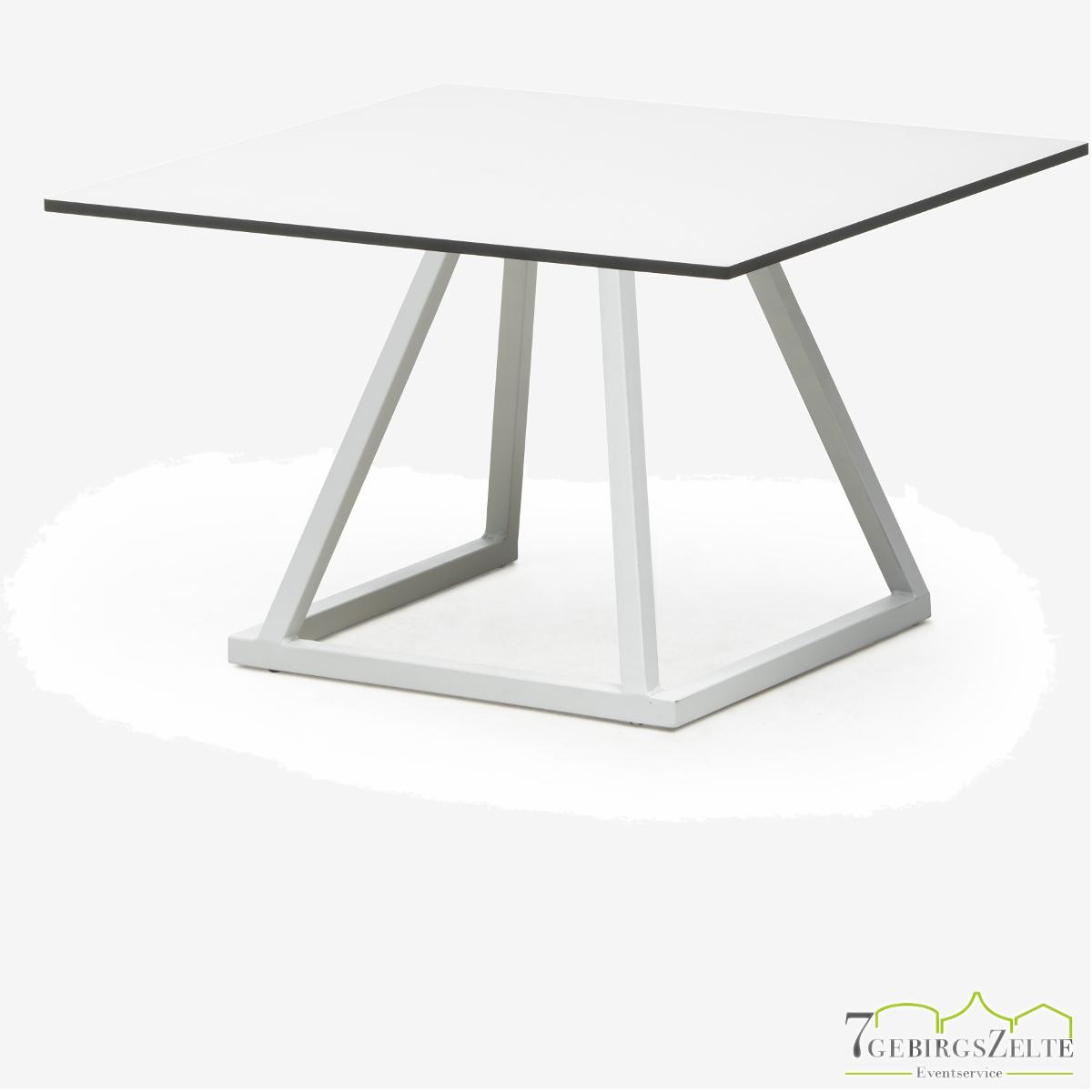 Linéa Dinner 70x70x74 - alu weiß  - Tischplatte Farbe: variabel