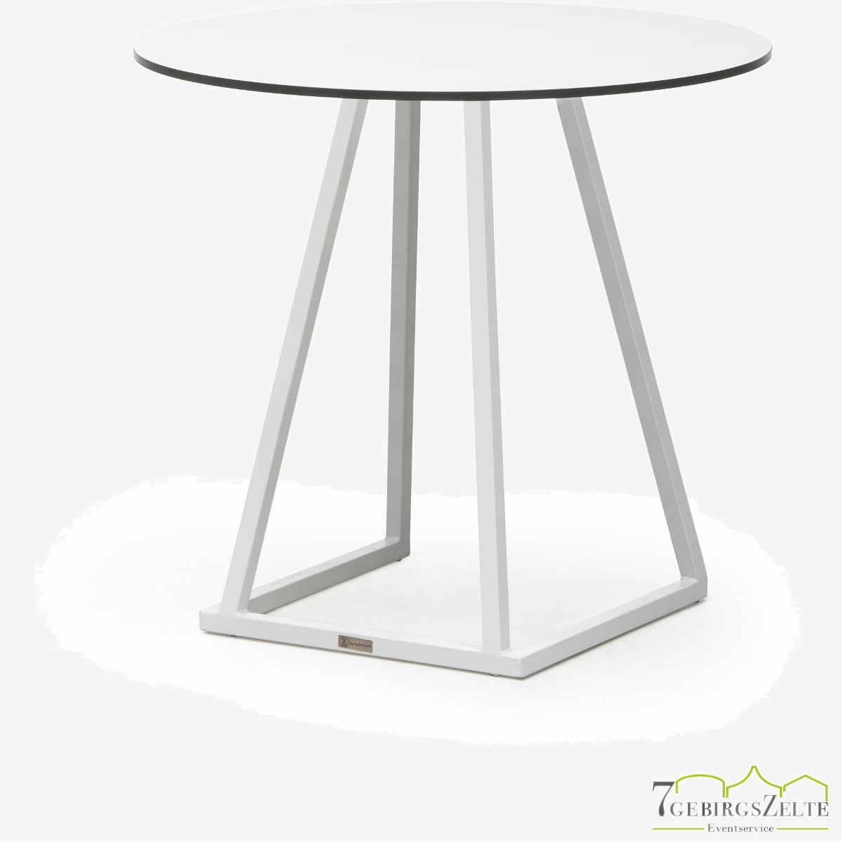Linéa Dinner Round D80 x 74cm  - alu weiß  - top compact weiß