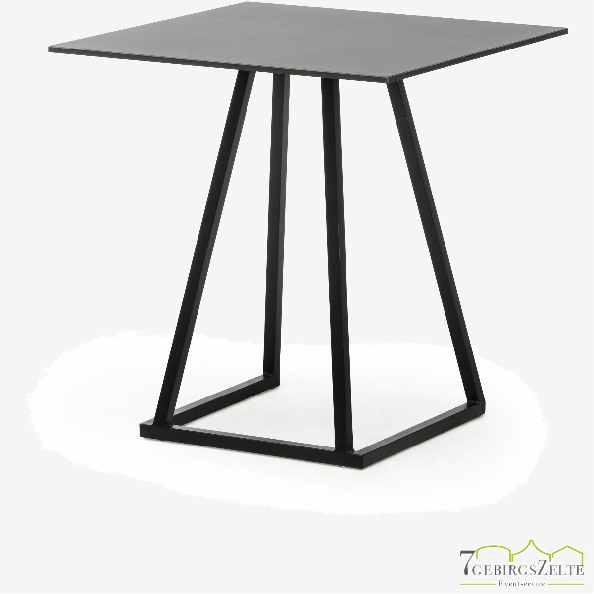 Linéa Dinner 70x70x74 - alu schwarz  - Tischplatte Farbe: variabel