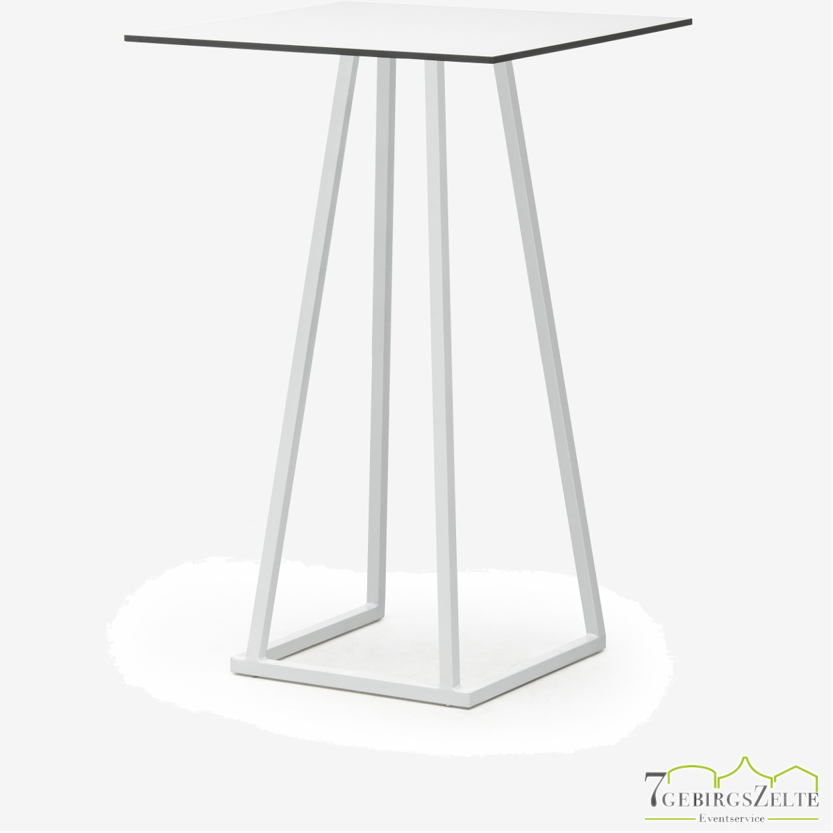 Linéa Party 70x70x110 - alu weiß  - Tischplatte Farbe variabel