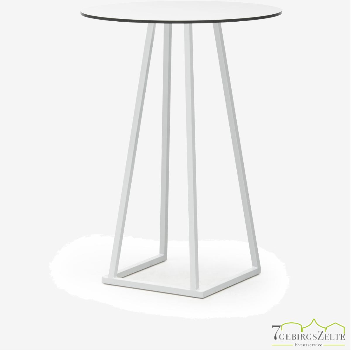 Linéa Party Round D80 x 110cm - alu weiß  - top compact weiß