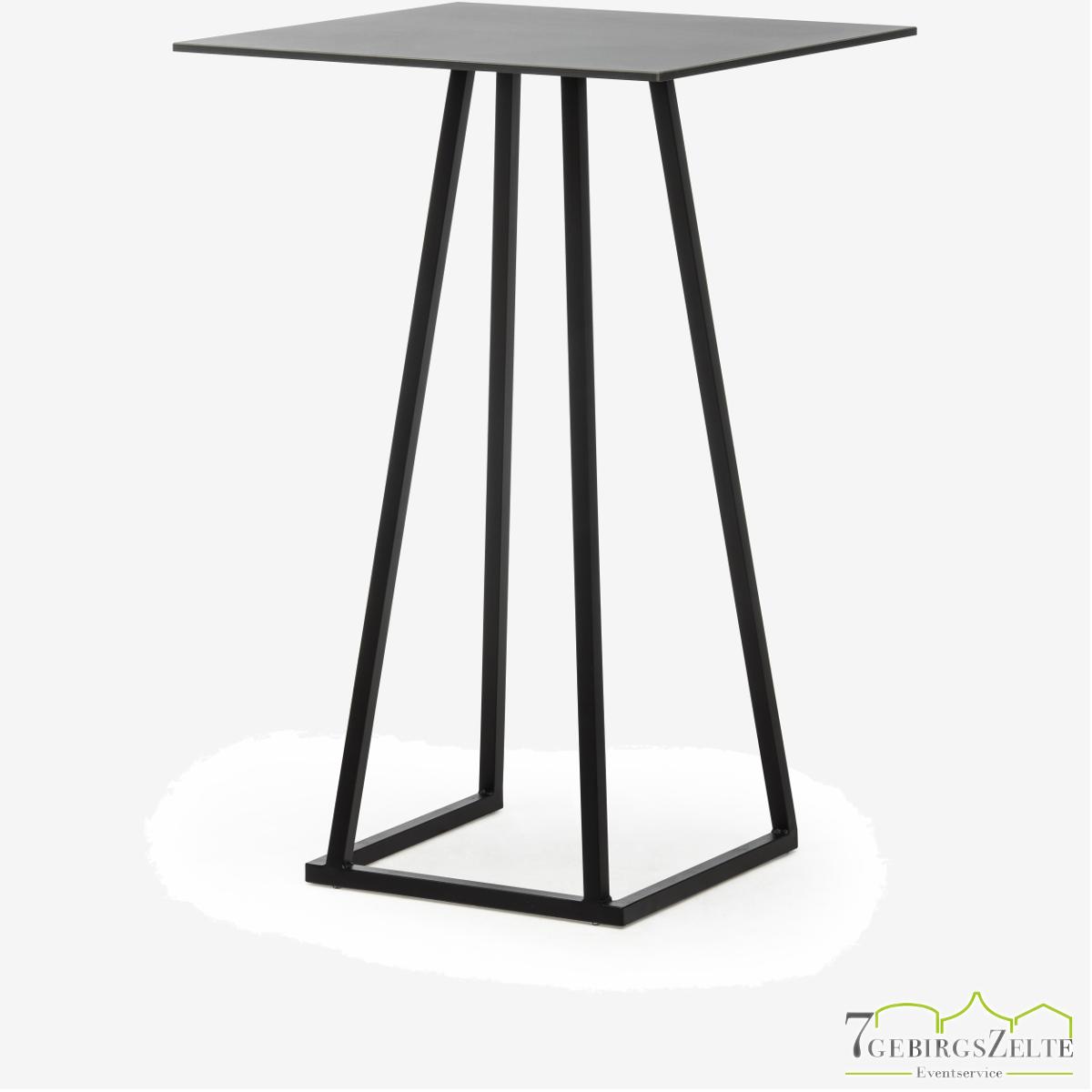 Linéa Party 70x70x110 - alu schwarz  - top compact schwarz