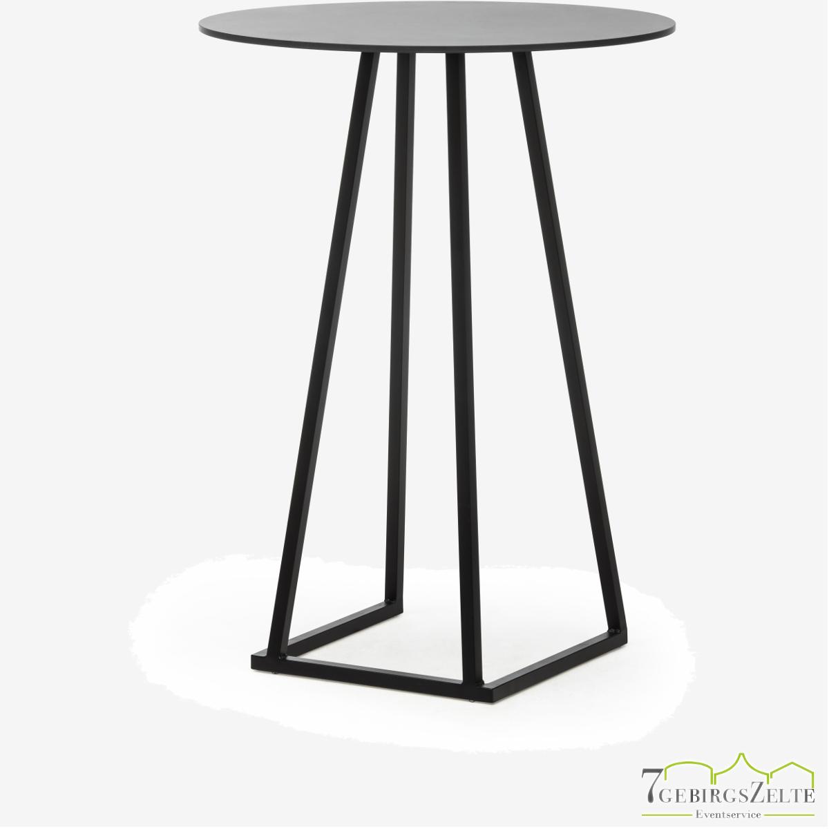 Linéa Party Round D80 x 110cm - alu schwarz  - top compact schwarz